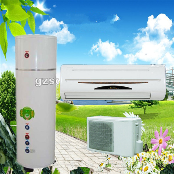 Air Source Heat Pump Split System, hot life water and air conditioner heating and cooling
