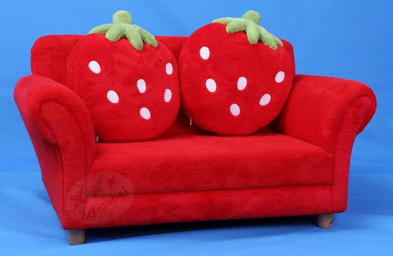 Zetels kids stoel met twee aardbei vorm kussens kinderen sofa