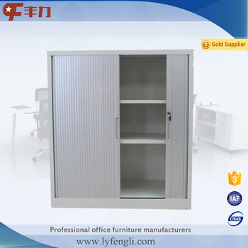 Small Double Sliding Door Cupboard Roller Shutter Door Steel Office