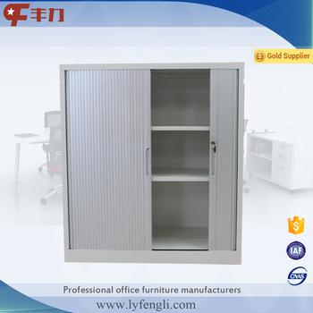 Small Double Sliding Door Cupboard Roller Shutter Door Steel Office Filing  Cabinet