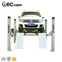 OBC-F3500 4 post hydraulic wheel alignment car lift with rolling jack