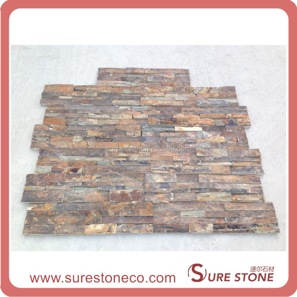 Yi County stone 014 yellow quartzite wall clading panels