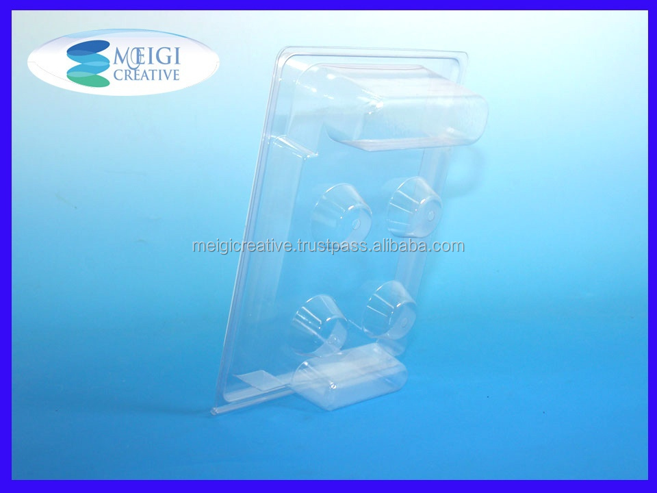 Clear Custom PET Plastic Clamshell, Cake Decor Packaging