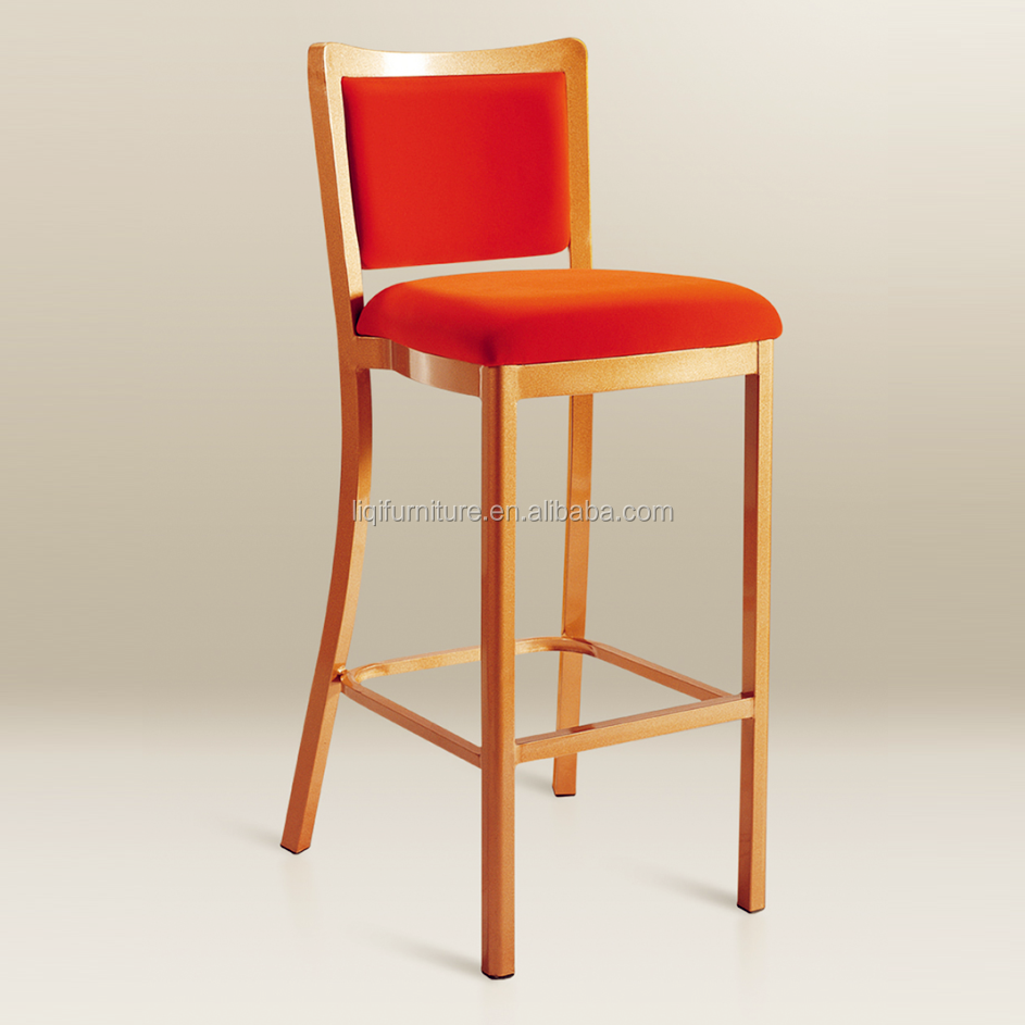 Metal Bar Stool High Chair Made by Aluminum with  Powder Coating Finish