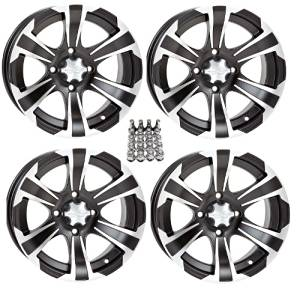 "ITP SS312 ATV Wheels/Rims Black 14"" Honda Foreman Rancher SRA"