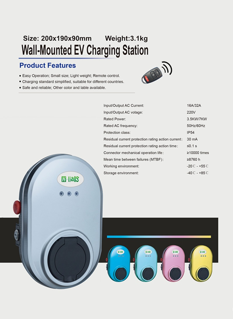 32A AC EV Charging Stations Type 2, Smart AC Charging Pile