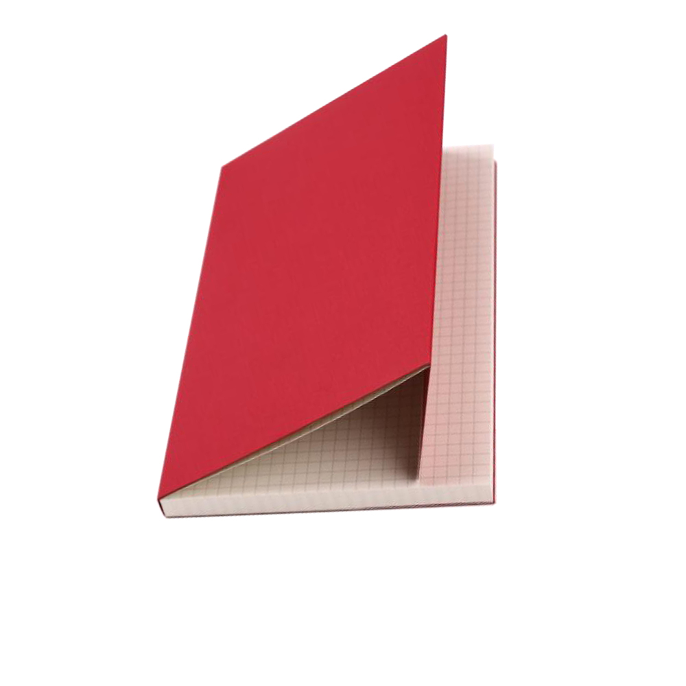 Bulk Plain Red Art Card Cover Recycled Paper Notebook A6 Small Pocket Notebook
