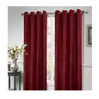 Wholesale BSCI OKTEX 100% polyester red suede shade window curtain latest new designs house blackout curtain