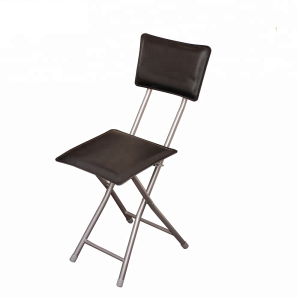 High square back folding chairs for tv room with faux leather wholesale