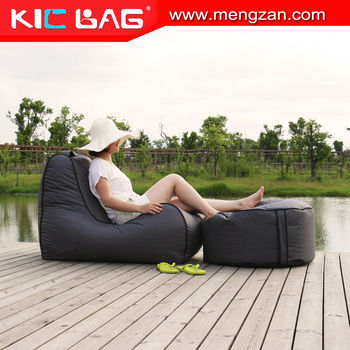 Indoor Cup Holder Bean Bag Lounge Chairs, Beanbag Chaise Lounge Furniture