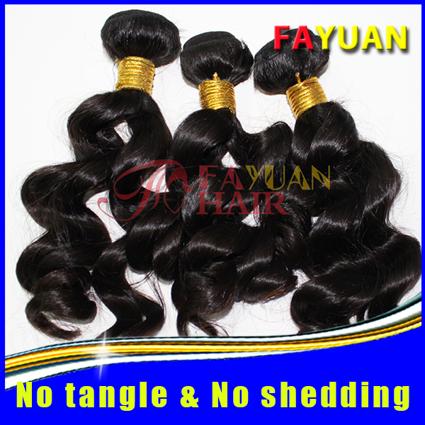 New arrival top quality perfect loose wave natural color Cambodian hair