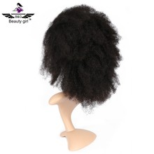 virgin Malaysian short human hair lace front curly afro wigs for black women