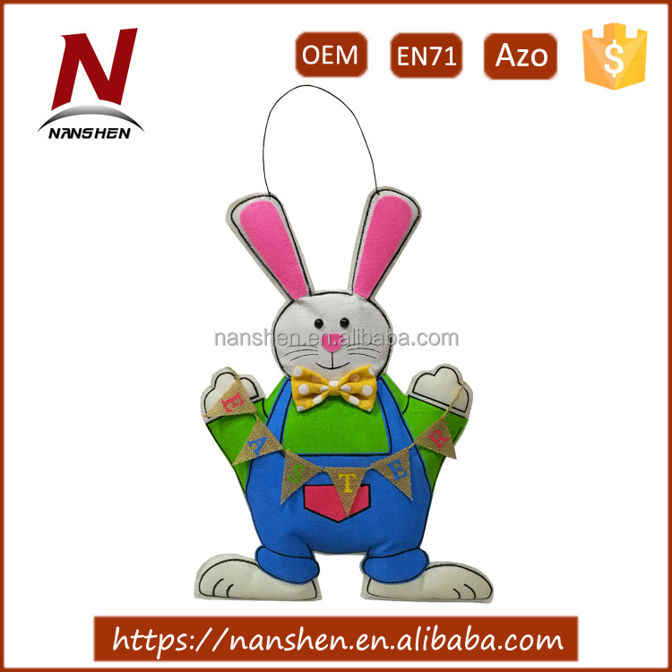 hot sale wholesale hanging easter decoration bunny