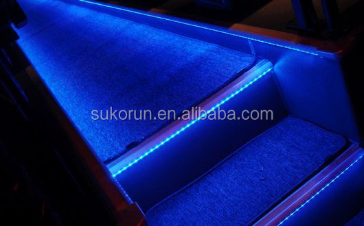 High Quality of universal bus LED Step Nosing with coloful lights