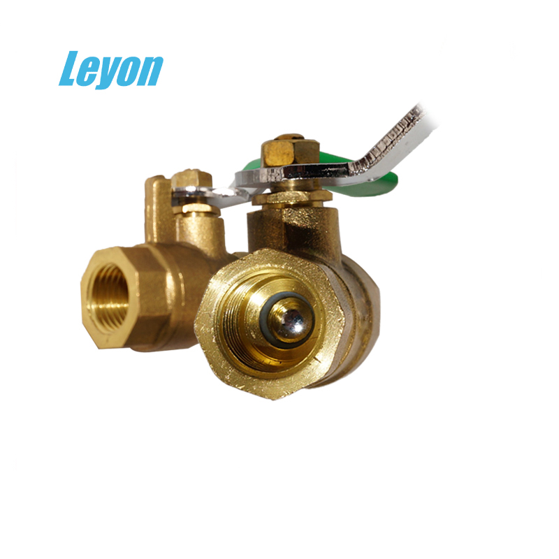 cheap 1/2 inch brass float ball valve Industrial FxF brass gas rb ball valve stem with lock