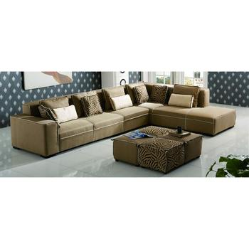 G1101 New L Shaped Sofa Designs Model Sets Pictures Fabric Color Combinations