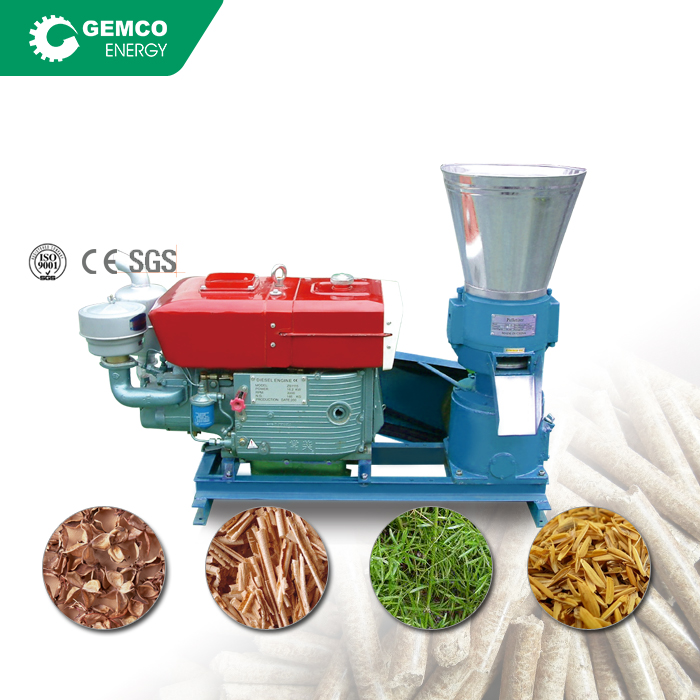 Lead manufacturer low price mini biomass saw dust rice husk hops wood pelletizing uses flat die small <strong>pellet</strong> machine