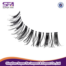 OEM service private label human hair eye lashes false eyelashes