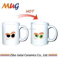 eco-friendly good sale zibo factory products custom sublimation decal color change magic 11oz ceramic cup gift mug