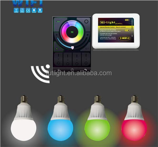 Multi color de e27 led light bombilla con mando a for Bombillas led con mando a distancia