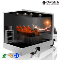 Professional 5d 7d cinema theater movie simulator truck mobile 5d 7d cinema