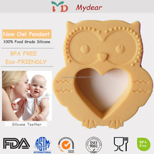 Customize Silicone Mold Baby Silicone Soft Giraffe Teether Owl Toy