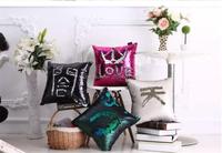 Reversible Sequin Mermaid Sofa Cushion Cover Pillow Case, Mermaid Pillow Covers
