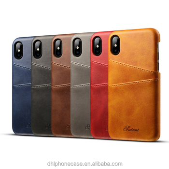 popular leather wallet mobile phone case, back cover case Slim with Credit Card for iphoneX 6 7 8 , for Samsung galaxy s3