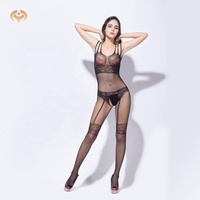 Women sexy hot women nude lace tight bodystocking nylon open pussy bodystocking