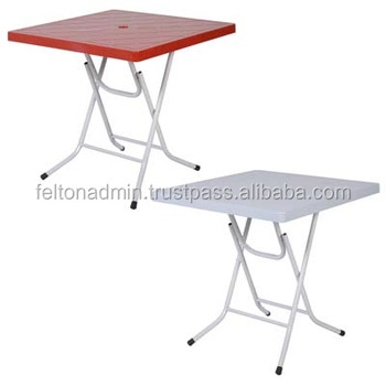 Superbe Foldable Plastic Square Table
