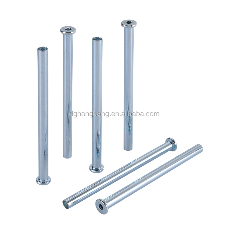 CNC Lathe Turned Flat Head Hollow Tubular Dowel Clevis Pin With Hole