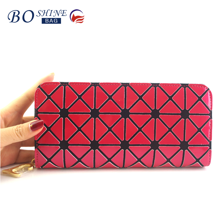 Alibaba manufacturer low MOQ customized bling fashion lady purse wallet with phone holder