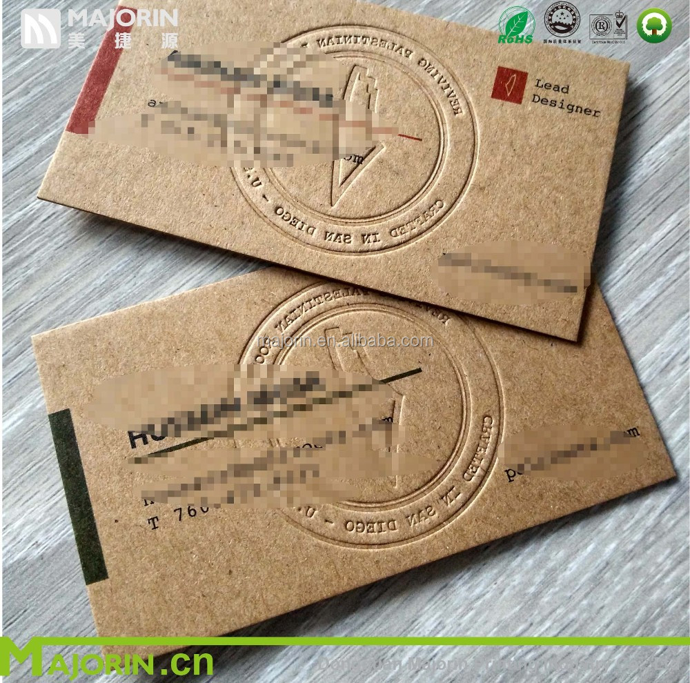 700gsm Thick Kraft Paper Business Card Luxury Kraft Business Cards