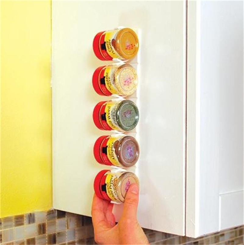 4PCS/SET 20 Cabinet Clip N Store Home Kitchen Organizer Stick Spice Rack Storage Gripper Holder Kitchen Gadgets Cooking tools