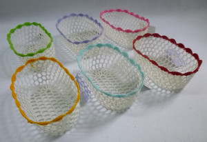 Crochet Mini Basket Oval