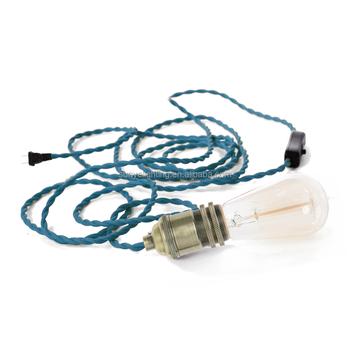 australian vintage pendant light use colorful braided wire edison rh wholesaler alibaba com Light Bulb Socket Wiring Diagram Us Light Bulb Switch Wiring