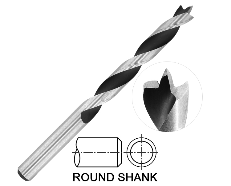 Edge Ground Wood Brad Point Drill Bit for Wood Precision Drilling