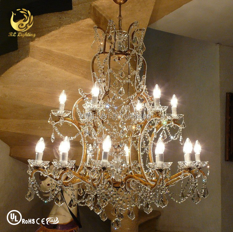 China manufacturer vintage decorative crystal chandelier parts