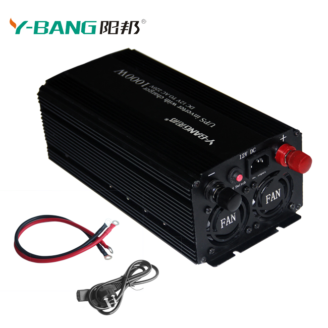Pure sine wave digital display UPS power inverter with 15A charger