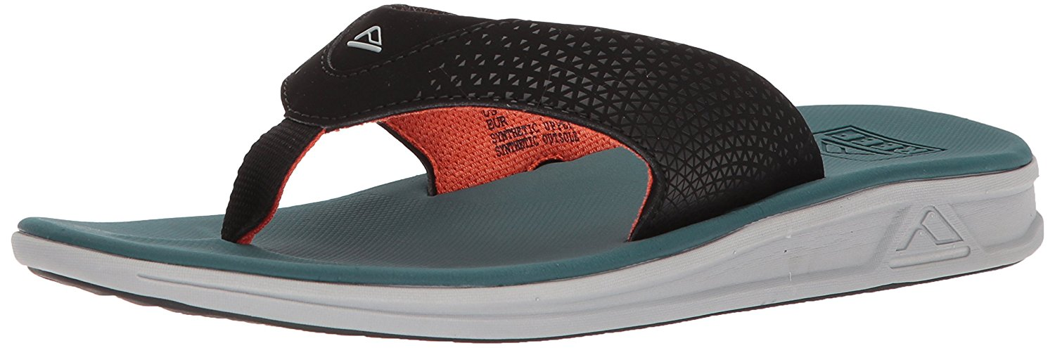 Reef Mens Sandals Rover   Athletic Sports Flip Flops for Men with Soft Cushion Footbed   Waterproof