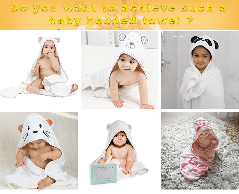 Factory wholesale 100% organic bamboo baby hooded embroidery Bath towel