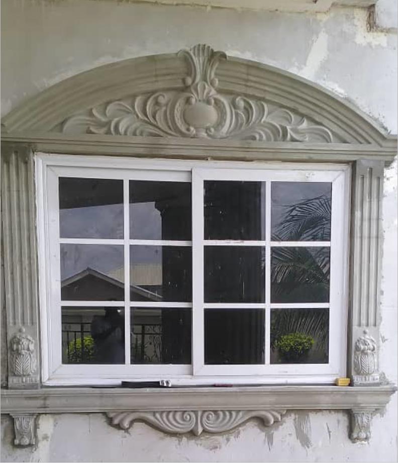 Design plastic concrete window moulding designs