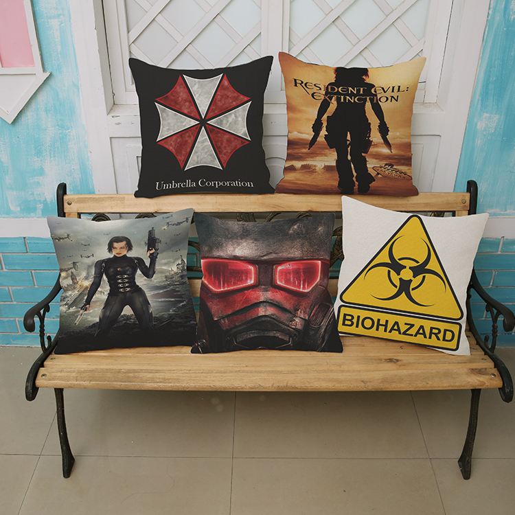 Resident Evil Alice wall sticker 45*45cm  Pattern printing Luxury home Decorate outdoor Car sofa seat cushion cushions pillow