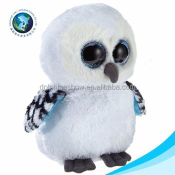 Cute Little Mini Owl Toy Stuffed Soft White Plush Toys Big Eyes Buy