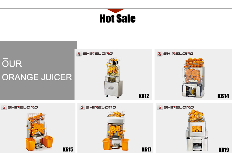 K612 Automatic Industrial Orange Juicer Machine With Cabinet