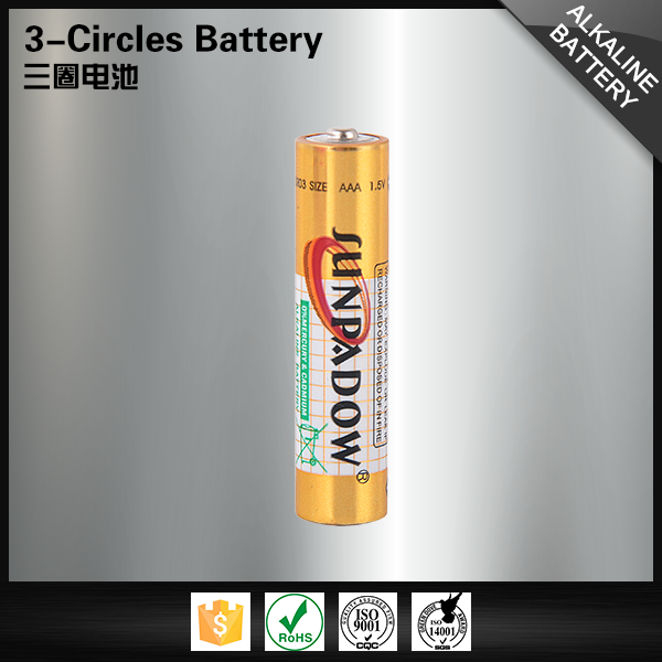 China manufacturers golden power 1.5v lr03 dry cell alkaline aaa battery