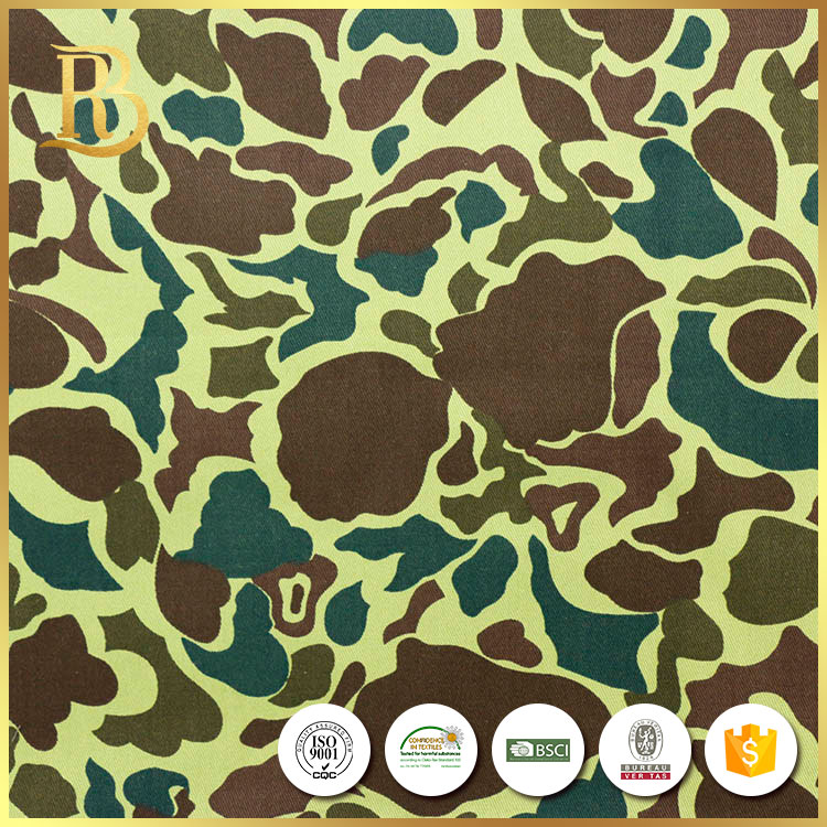 Good Camouflage Net Realtree Polyester Blue Printed Fabric