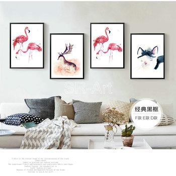 Nordic Woonkamer Decoratie Schilderen Flamingo Pictures Canvas Voor ...
