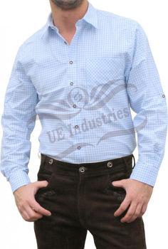 メンズドレスシャツ、バイエルンシャツ、 karo hemden 、市松シャツ、カジュアルシャツ、