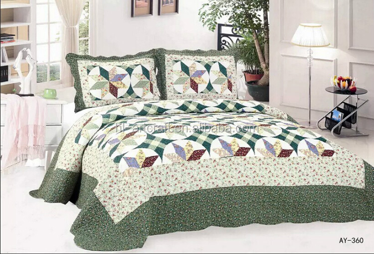 Active Series Twill 100 Cotton 3 Pcs Patchwork Bed Sheet Designs